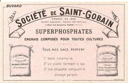 Buvard Agriculture Société De Saint-Gobain SUPERPHOSPHATES Engrais Composés Pour Toutes Cultures - Agriculture