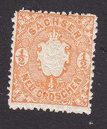 Saxony, Scott #16, Mint Hinged, Arms, Issued 1863 - Saxony