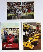 3 Images Grand Prix F1 Formule 1 Andretti Niki Lauda Brahham Alfa Romeo Jabouille Renault 1978 1979 - Automovilismo - F1