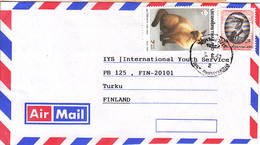 Thiland Airmail Cover To Finland, Animal Cat   (Z-2731) - Thailand