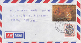 Thiland Airmail Cover To Finland, Animal    (Z-2732) - Thailand