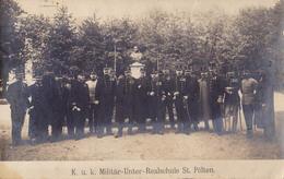 ST. PÖLTEN : K. U. K. MILITÄR-UNTER-REALSCHULE / ÉCOLE MILITAIRE - CARTE VRAIE PHOTO / REAL PHOTO ~ 1905 - '10 (v-889) - St. Pölten