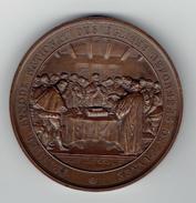MEDAILLE CUIVRE 29 MAI 1859 PREMIER SYNODE NATIONAL DES EGLISES REFORMEES DE FRANCE PROTESTANTISME GRAVEUR ANTOINE BOVY - Godsdienst & Esoterisme