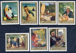 HUNGARY 1967 20th Century Paintings Set MNH / **.  Michel 2370-76 - Hungary