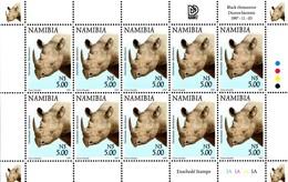 Namibia - 1997 Flora And Fauna $5 Rhino Sheet (**) # SG 765 - Rhinozerosse