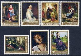 HUNGARY 1966 National Gallery Paintings Set MNH / **.  Michel 2291-97 - Hungary