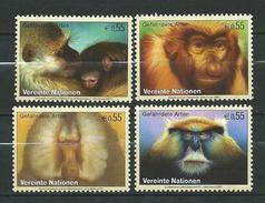 UN.United Nations Vienna.2007 Endangered Animals - Primates.Fauna/Mammals/Monkeys & Apes.MNH - Wien - Internationales Zentrum