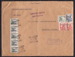 España 1938. Canarias. Carta De Las Palmas A Eindhoven. Censura. - Marcas De Censura Nacional