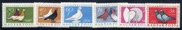 HUNGARY 1957 Pigeons Set MNH / **.  Michel 1505-10 - Hungary