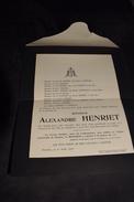 Avis Alexandre Henriet Né à Fleurus 19 Juin 1851 Y Décédé 1 Avril 1917 - Obituary Notices