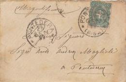LETTERA 1899 TIMBRO PONTEDERA -FRANCOBOLLO 5 CENT. (RL353 - Poststempel