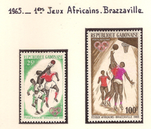 Gabon 1965, 1 Er Jeux Africains Brazzaville ( Thématique Sport ) - Gabon (1960-...)