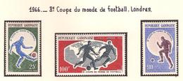 Gabon 1966, 8 ème Coupe Du Monde De Football, Londres ( Thématique Sport ) - Gabon (1960-...)