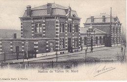Station De Virton St Mard (gare, Animée, Librairie Raty, 1904) - Virton