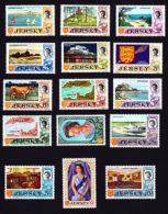 JERSEY 1969,  SCOTT # 7-21, ELIZABETH CASTLE & QUEEN ELIZABETH 11 - Jersey