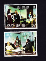 JERSEY 1980,  SCOTT # 229-30    WAX FIGURES From MONT ORGUEIL & ELIZABETH CASTLES MNH - Jersey