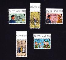 JERSEY 1982,  SCOTT # 295-9  MNH    SCOUTING YEAR - Jersey