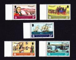 JERSEY 1983,  SCOTT # 310-14    WORLD COMMUNICATIONS YEAR MNH - Jersey