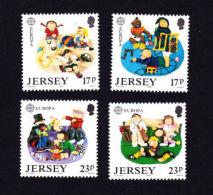 JERSEY 1989,  SCOTT # 511-4 MNH   EUROPA 89    Children's Games - Jersey