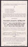 Beauvechain Tourinnes-la-Grosse Xavier STRUYF Veuf DEPREZ JACQUART Et TAILLET 1827-1927 Centenaire ! Souvenir Décès - Décès