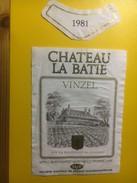 3831 - Château La Bâtie 1981 Vinzel Suisse - Etiquettes