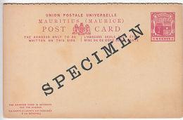 Mauritius: UPU Mint Double Postcard, 8c, Overprinted Specimen [H&G C12 Specimen) - Mauritius (...-1967)