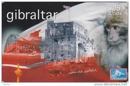 Gibraltar, GIB-61, Ape & Moorish Castle, Mint, 2 Scans.
