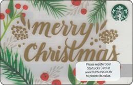 Thailand Starbucks Card Merry Christmas 2016 - 6128 - Gift Cards
