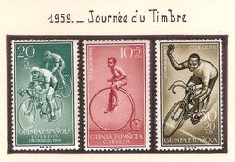 Guinée Espagnole 1959, Journée Du Timbre ( Thématique Sport ) - Guinea Spagnola