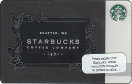 Thailand Starbucks Card Seattle Starbucks Caffee 2016 - 6129 - Gift Cards