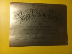 3841 -  Château Vray Canon Boyer 1973 Canon-Fronsac - Bordeaux