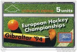 Gibraltar, GIB-36, Hockey, Sport, 5u. Collectors Edition,  Mint.
