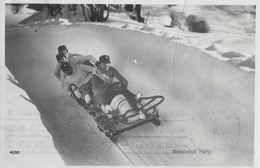MONTANA → Bobsleigh Party, Vierer-Bob Im Eiskanal Anno 1939  ►super Fotokarte◄ - VS Wallis