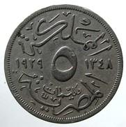 1929 - Egypt 5 Milliemes  - (AH  1348) - KM# 346 - Egitto