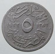 1933 - Egypt 5 Milliemes - (AH 1352) - KM# 346 - Egitto