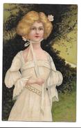 FEMMES - FRAU - LADY - Jolie Carte Fantaisie Portrait Femme - Illustrateurs & Photographes