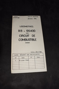 Guide De Dépannage 4 A Locomotive BB 66400 Circuit De Combustible 1968 Sncf Train - Machines