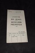 Guide De Dépannage 5 Locomotive BB 66400 Installation Pneumatique 1968 Sncf Train - Machines
