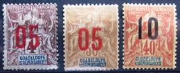 GUADELOUPE              N° 72/74                   NEUF* - Neufs