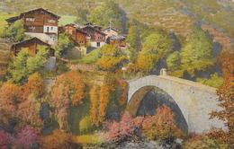 STALDEN → Häusergruppe Bei Der Neuen Brücke Anno 1923 - VS Wallis
