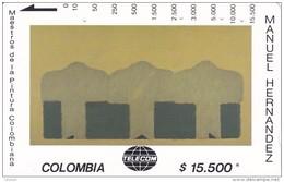 TARJETA DE COLOMBIA DE TELECOM DE $15500 MAESTROS DE LA PINTURA (MANUEL HERNANDEZ) SECUENCIA ALINEADA - Colombia