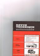 Revue Technique Automobile N°314 Spécial Utilitaires (Camion) - Ford Transit - Les Auto-radio - Evolution J7 Peugeot - Auto/Moto