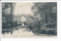 Carte De TROYES  La Seine Au Cours Danton  ( Recto Verso ) - Troyes