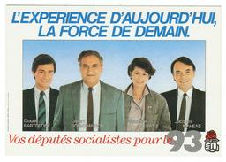France // Politique // Personnage // Claude Bartolone,Gilbert Bonnemaison,Véronique Neiertz,Jacques Maheas - Personnages