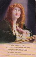Bamforth Beautiful Woman Praying The Rosary No 1 - Christianity