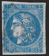 Bordeaux N° 46 Avec Variété  Trait Blanc Dans Fleuron Inf. Gauche - 1870 Emissione Di Bordeaux