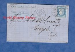 Facture Ancienne / Marque Postale - SANCERRE ( Cher ) - Maison MEYNIAL , Tissus En Gros - 1875 - Voir Cachets - 1849-1876: Periodo Clásico