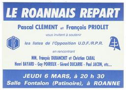 France // Politique // Personnage // Le Roannais Repart (U.D.F. / R.P.R.) - Partis Politiques & élections