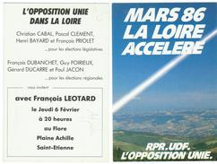 France // Politique // Personnage // Mars 86, La Loire Accelere (U.D.F. / R.P.R.) - Partis Politiques & élections