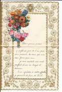 Lettre Illustrée De Fleurs Et Découpages - Non Classés